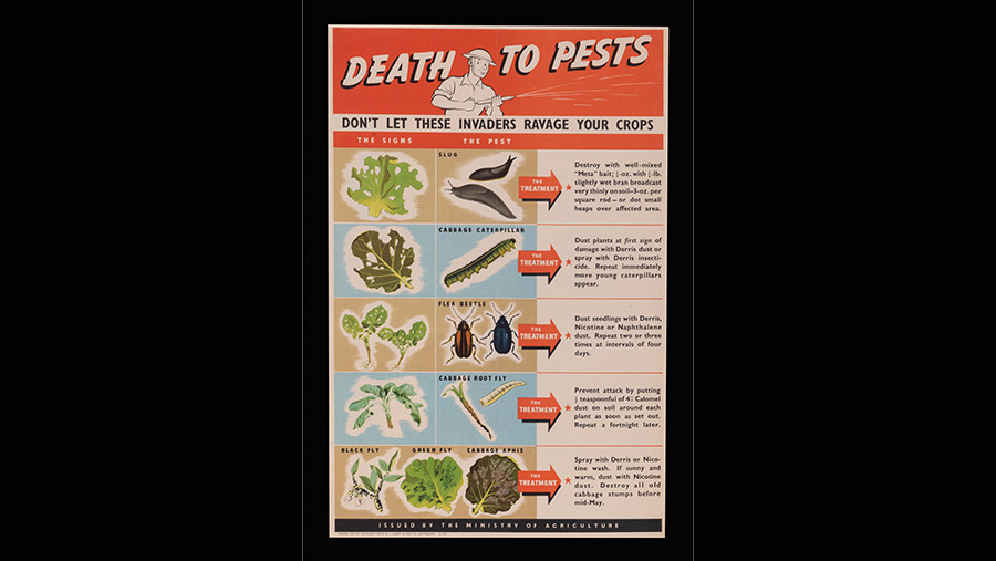An old poster on pest control
