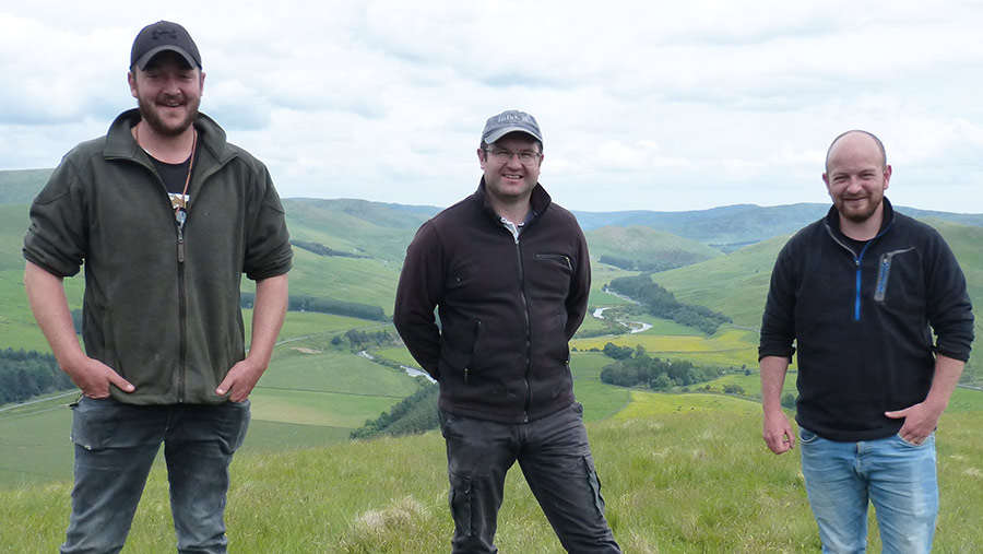 Callum (left) and Duncan Hume (right) with Sion Williams (center)