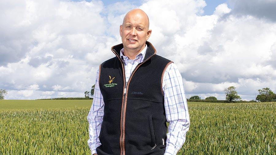 Andrew Robinson on farm