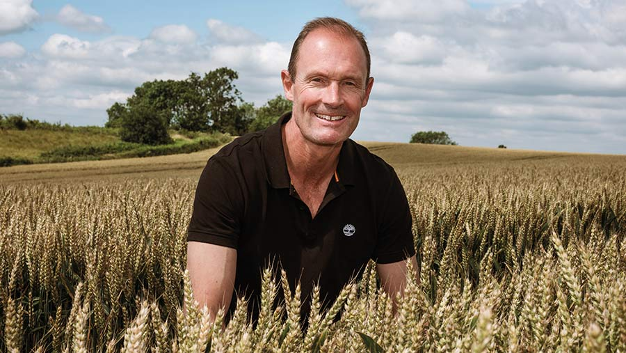 Andy Barr in wheat field