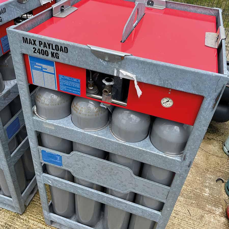Bottles of compressed methane