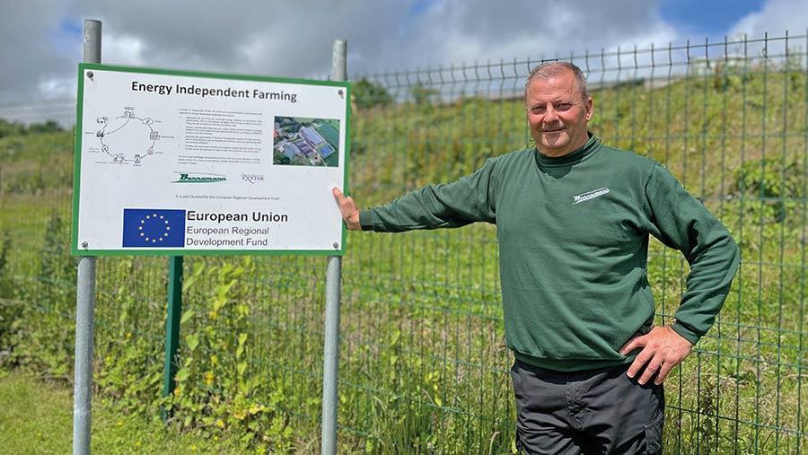Chris Mann on farm