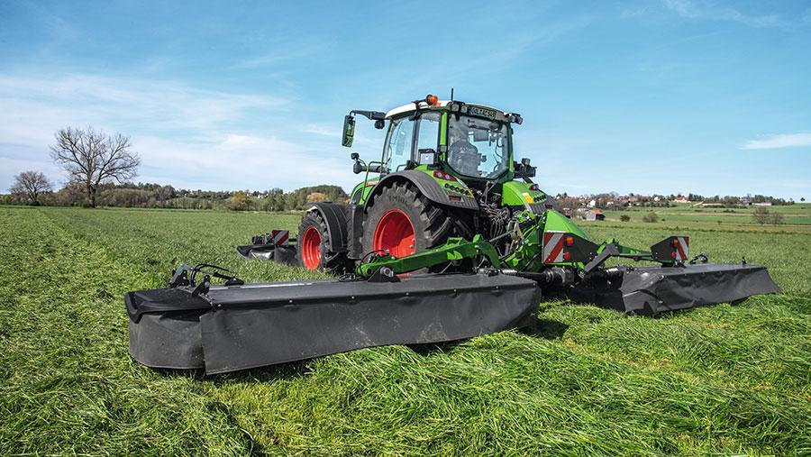 Fendt mower in field