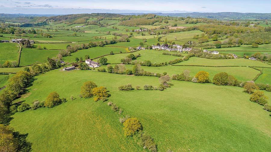 Near Myddfai, in Carmarthenshire, Savills is selling 289-acre Ysgubor Fawr, near Myddfai