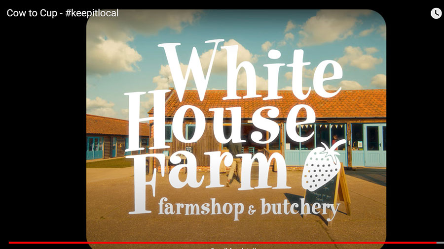 A still from the video Cow to Cup © White House Farmshop