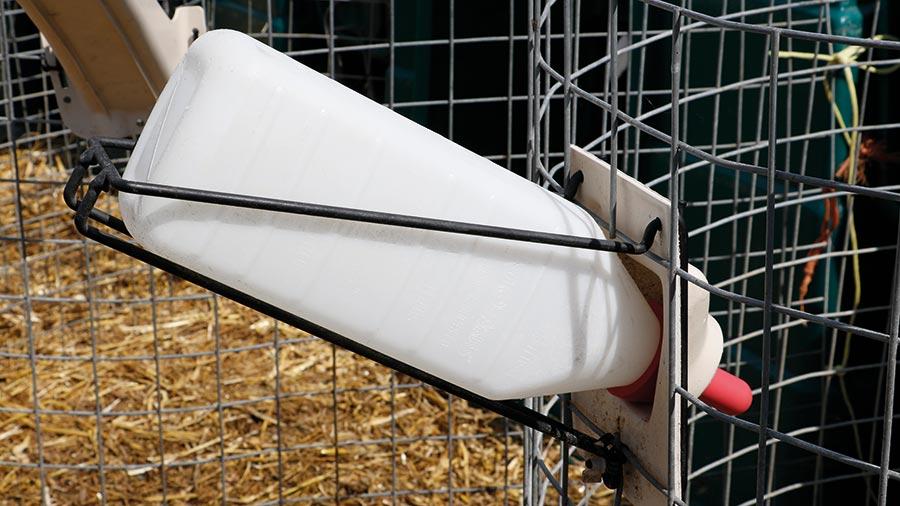 Bottle holder for feeder