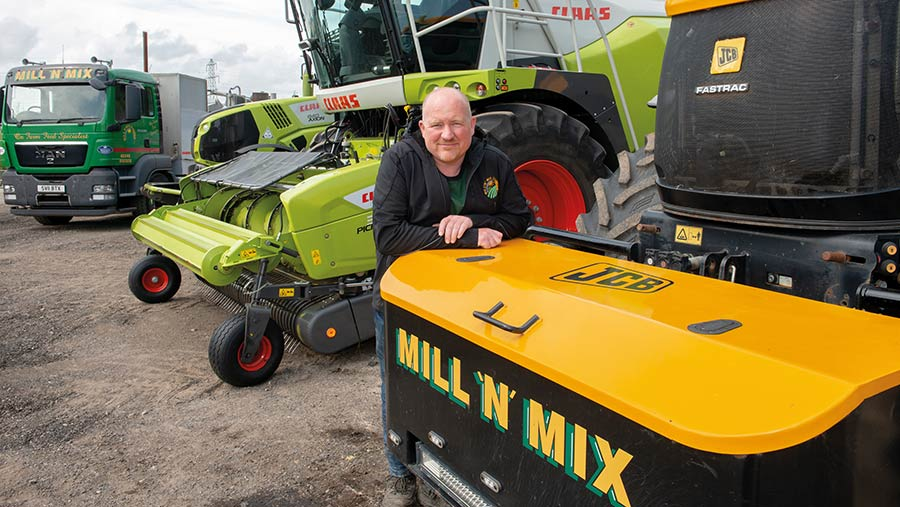 John Fraser with machinery