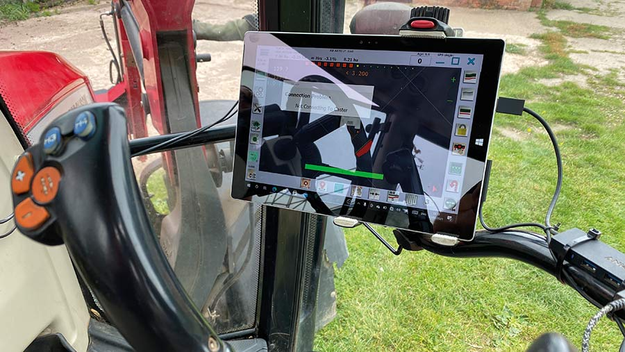Laptop for monitor in tractor cab