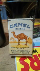 Charlie's Last Pack of Camel Cigarettes