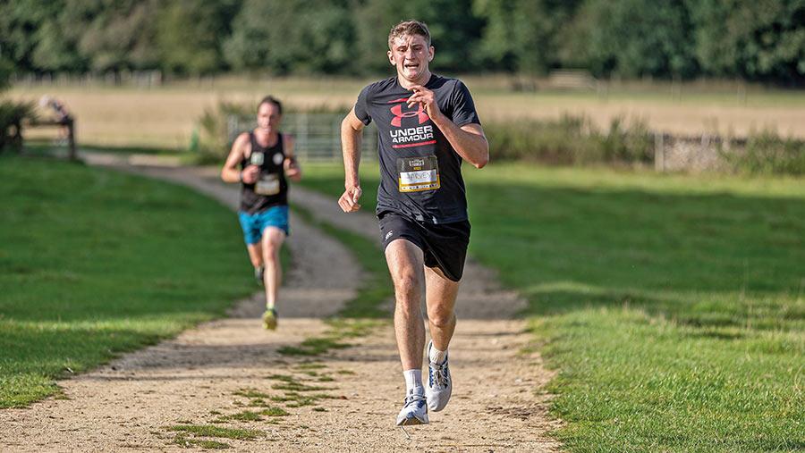 Harvey Dunn running
