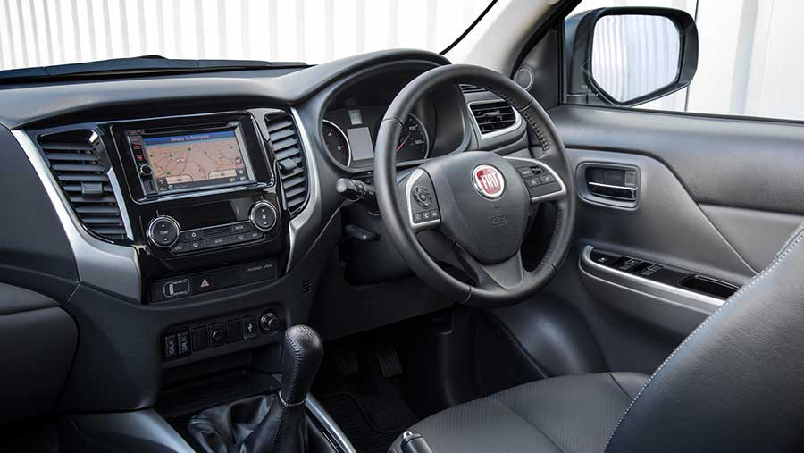 Fiat Fullback LX five-speed auto interior