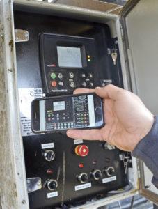 Pump app displays a virtual control panel