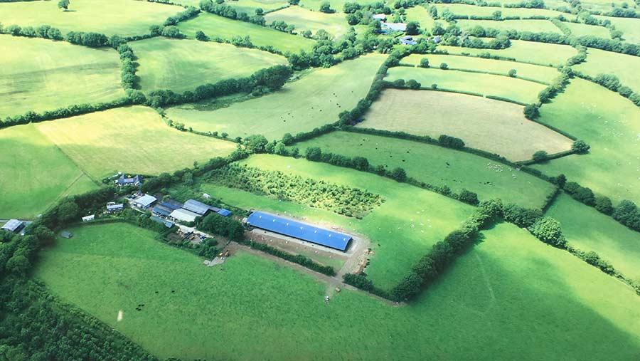 Glenwood Farm at Okehampton aerial view