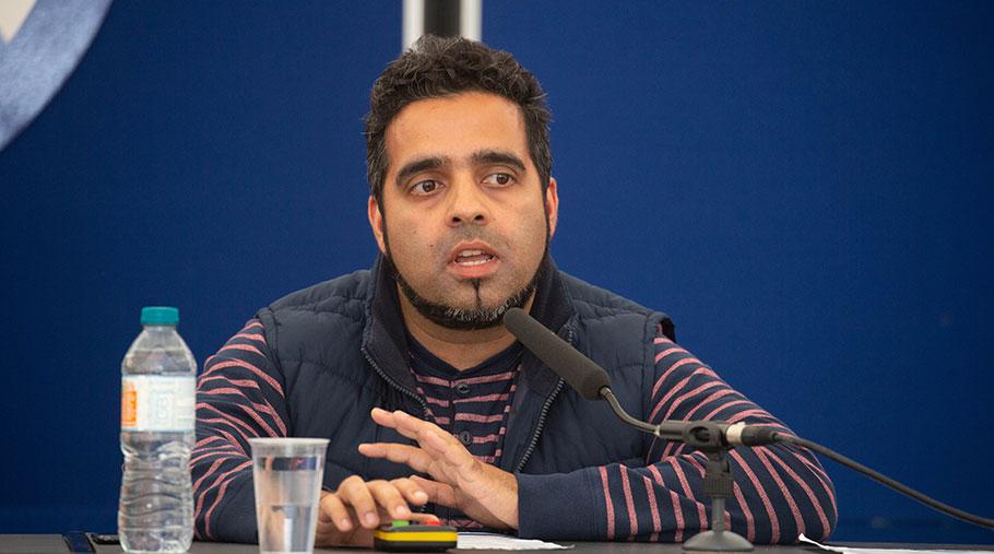 Rizvan Khalid speaks at the NSA's Sheep Event