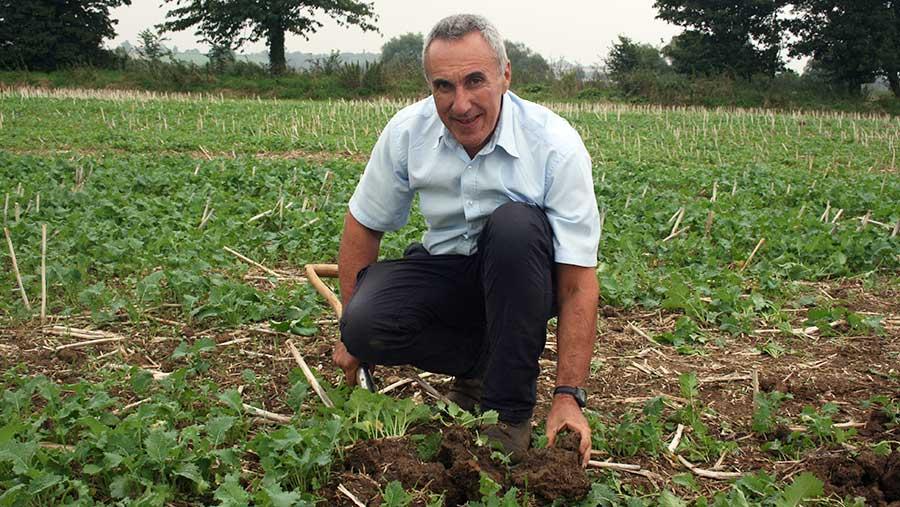 Soil expert Phillip Wright © Oli Hill/RBI