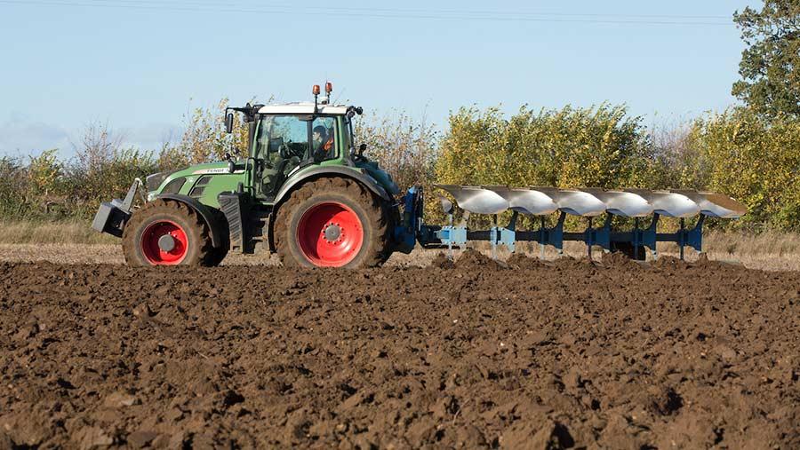 Ploughing in winter © Tim Scrivener