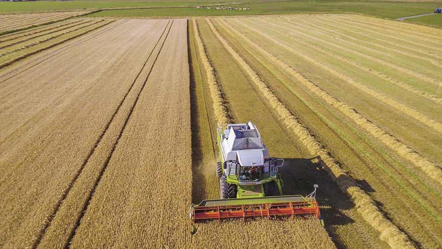 Claas combine harvester
