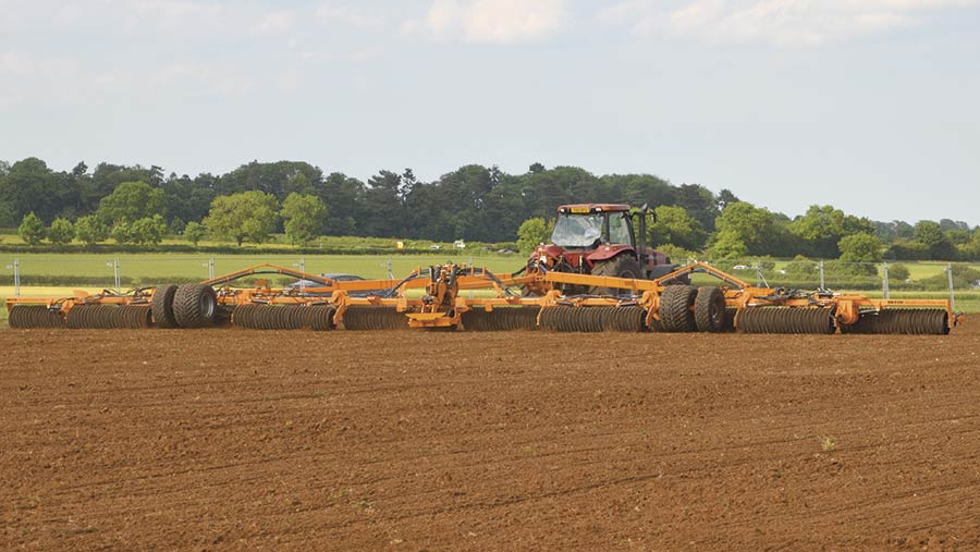 A set of Brocks Double Lock rollers at work in a field