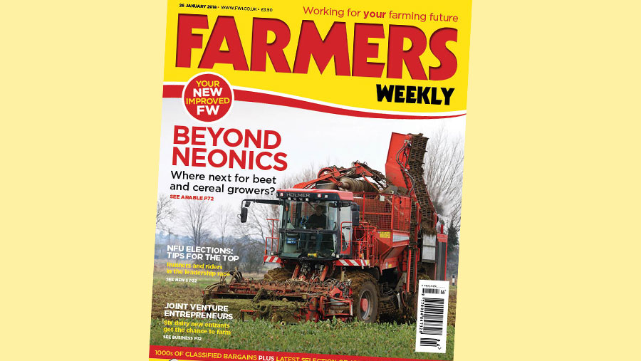 The front cover of the 26 January edition of Farmers Weekly