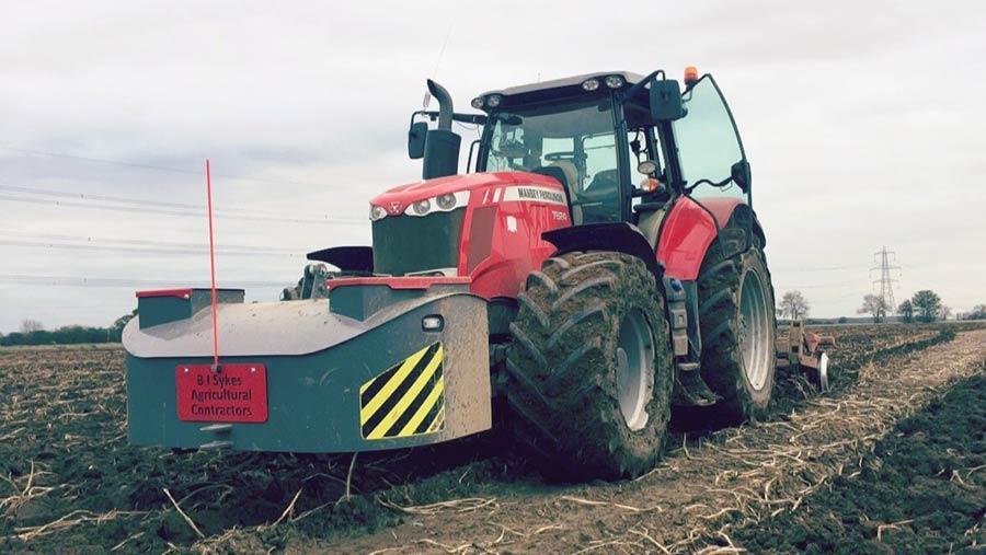 Bradley Sykes doing land work