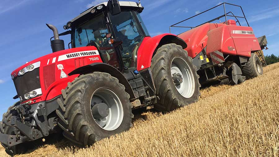 Bradley Sykes tractor and baler