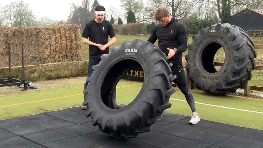 Tom Kemp tyre flip exercise