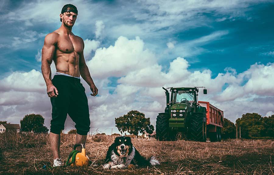Tom Kemp with Ozzie the Collie © Chris Parkes