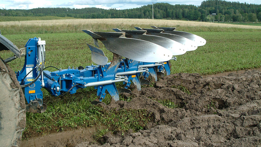 Overum CX2 plough being used in a field
