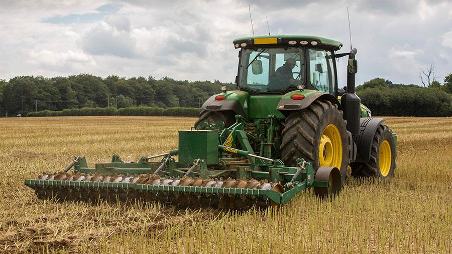 A farm subsoils oilseed rape stubble