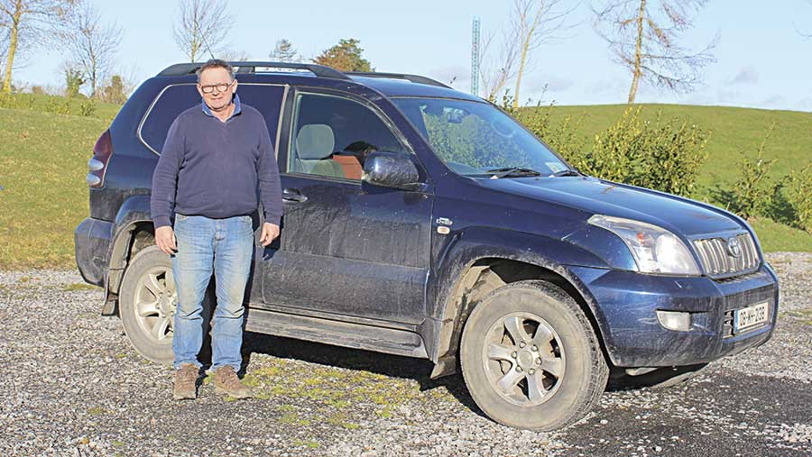 Hector Nelson with his Land Cruiser