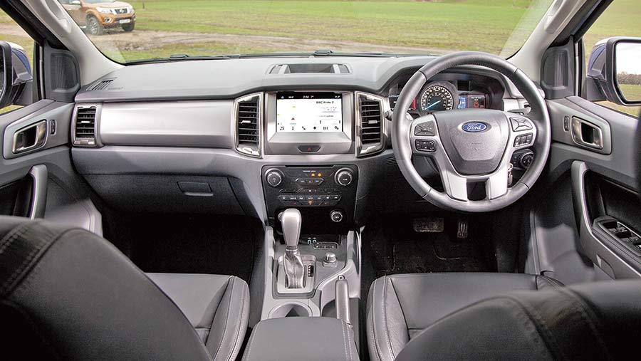 Ford Ranger Limited interior