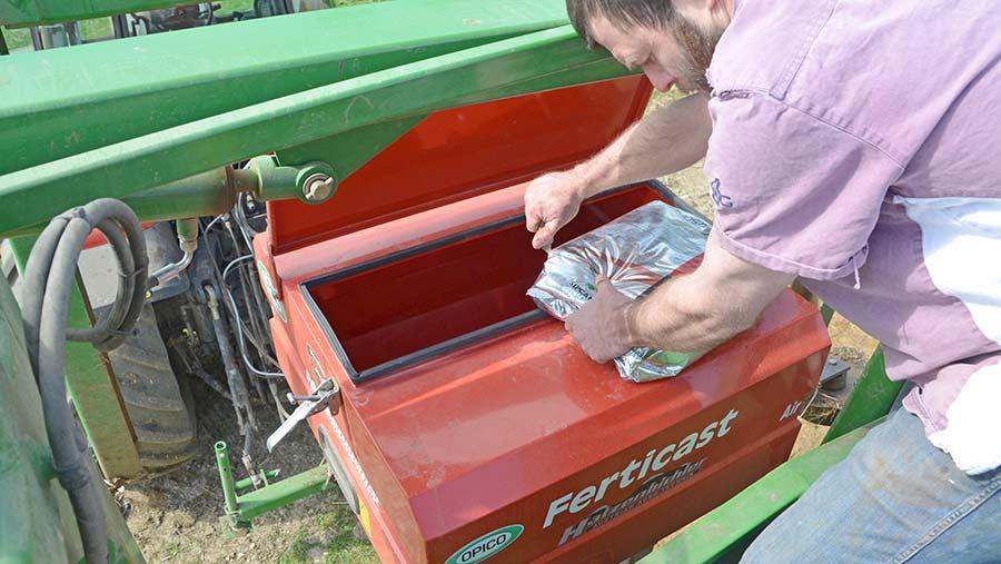 Filling the hopper