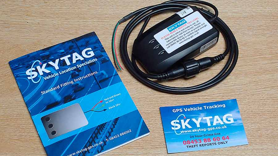 SkyTag tracking device