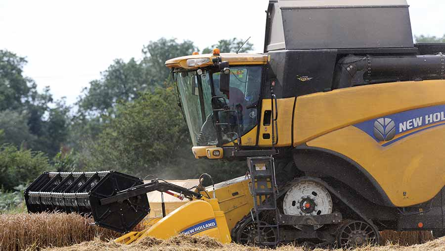 Tracked combine