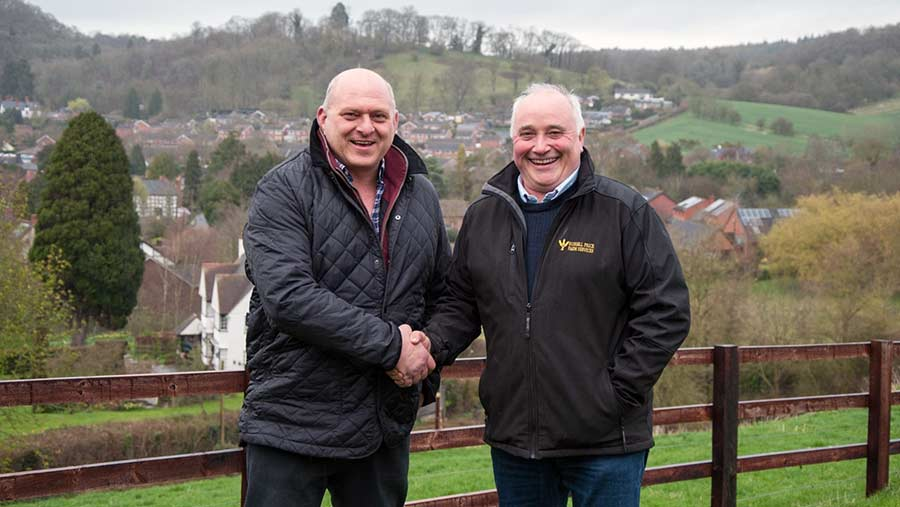 New Herefordshire AHDB Monitor Farmers Martin Wiliams (left) and Russell Price