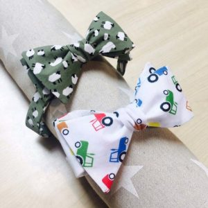 Sheep and tractor bow ties c Bryony's Bows