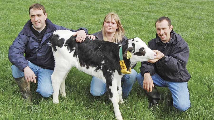 Darren McMurran (left) with wife Laura and Stuart McMurran