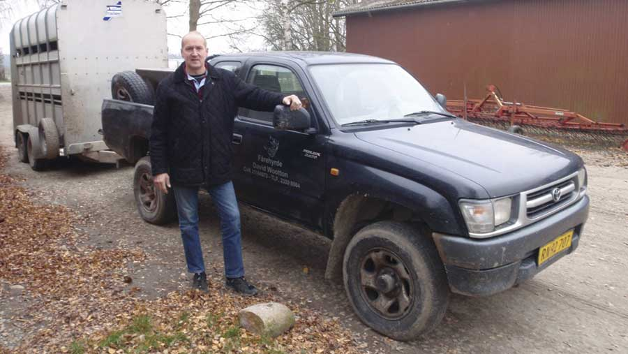 David Wootton with his high-mileage Toyota Hilux