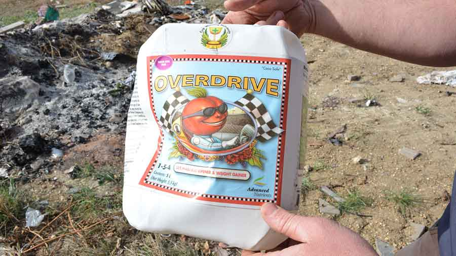 Cannabis farm fertiliser among rubbish dumped on farm