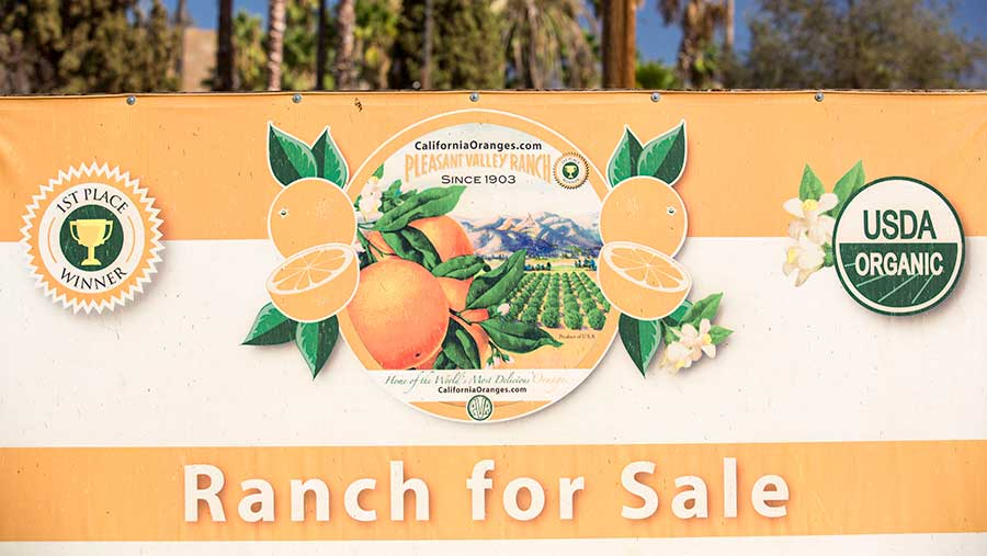 Ranch for sale sign