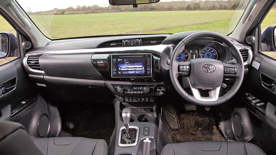 Toyota Hilux Invincible interior