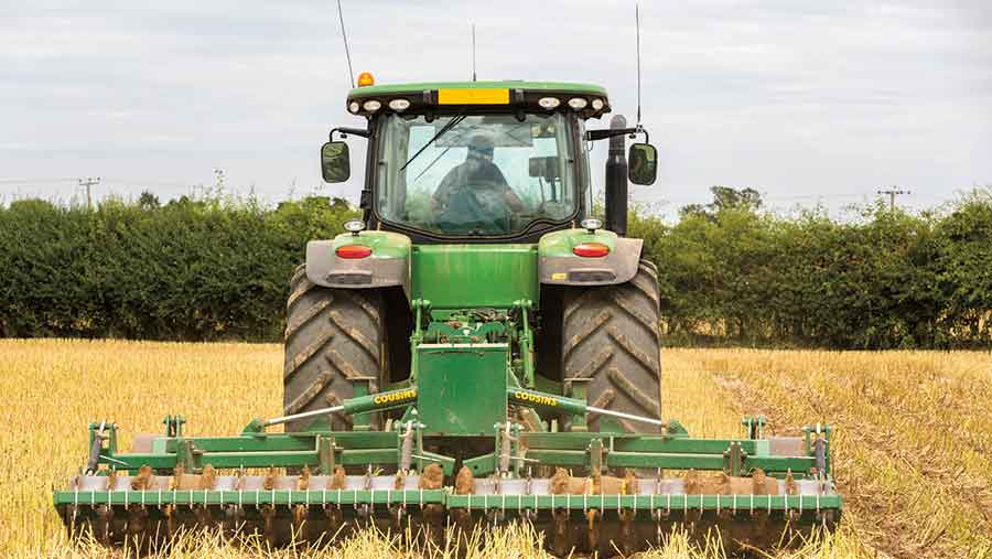 Subsoiling of stubble