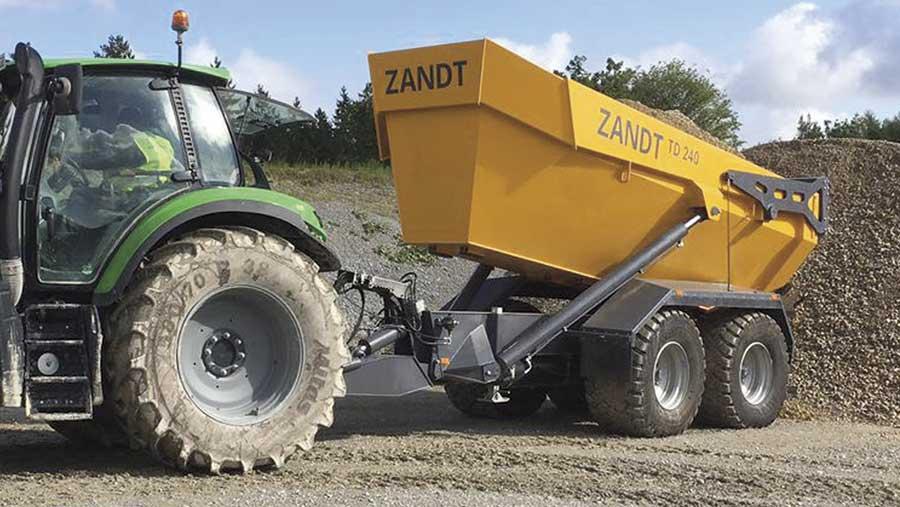 Zandt Cargo dump trailer