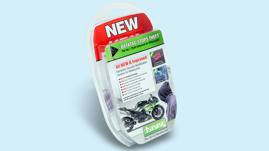 Datatag kit for motorcycles