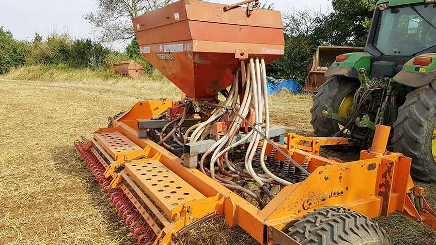 Andy Corner's seed drill