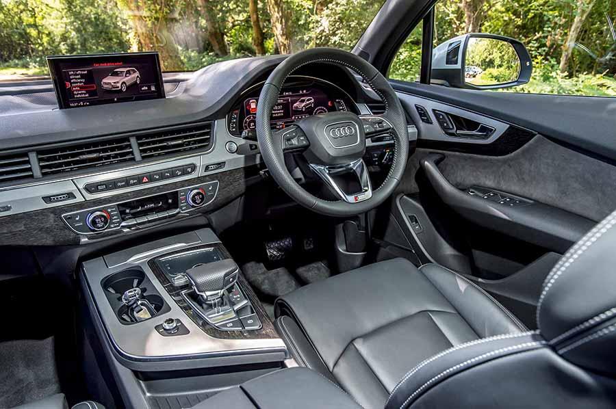 Interior of the Audi Q7