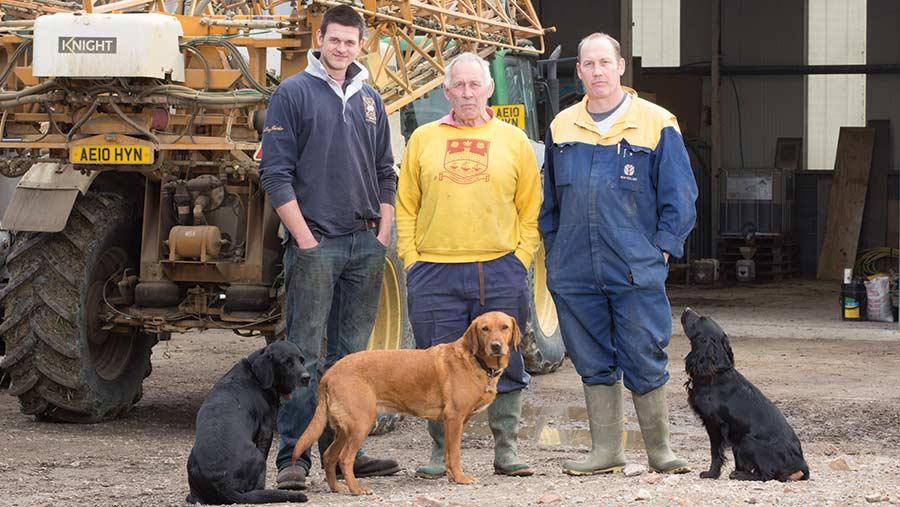 Jack Harvey, Alan Banks and Ben Banks