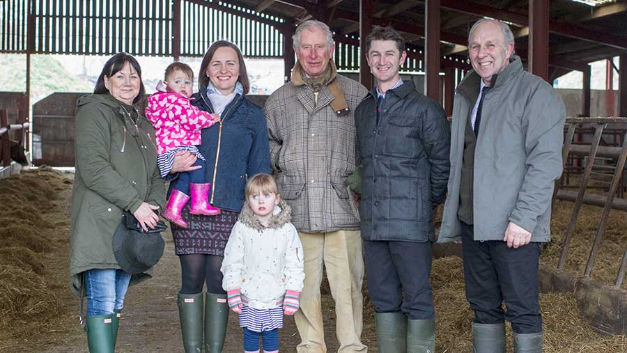 Prince Charles and the Hughes famil