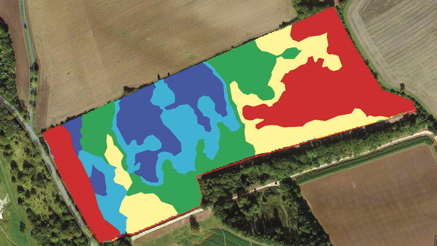 (4) The smoothed yield map can be used to generate a variable seed plan