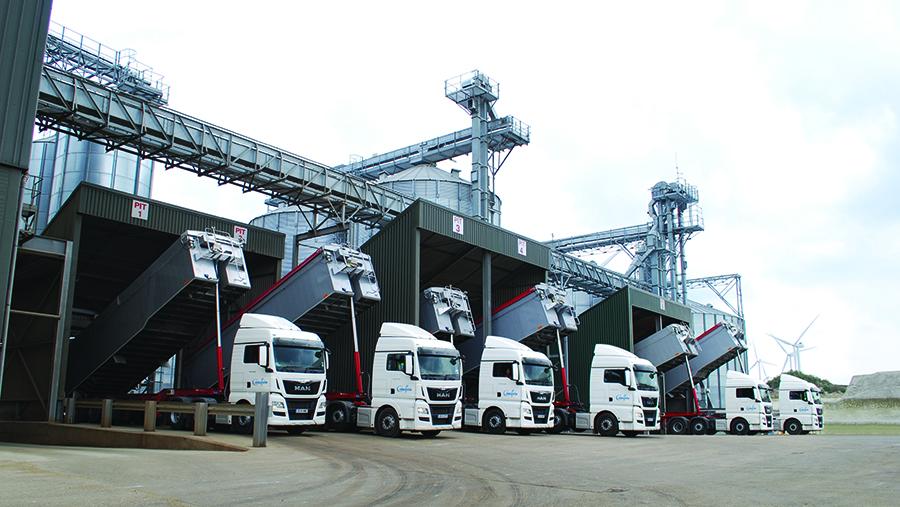 Camgrain lorries loading